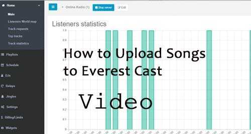 How to Upload songs with Everest cast Pro